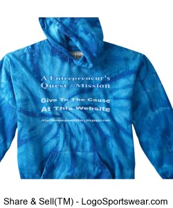 Adult Cotton Tie-Dyed Hoodie Design Zoom